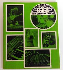 MUSIC EMPORIUM 1978 Catalog Gibson Martin Fender Travis Bean Guitar Moog