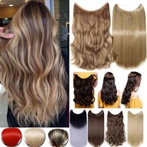 Draht in Haarverlängerung Haarteil Extensions Secret Elastisch Tressen Haare DE
