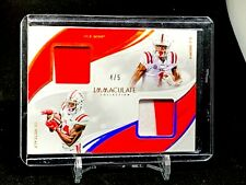 DK Metcalf - AJ Brown Immaculate Dual Patch - 4/5 - Ole Miss - Seahawks - Titans