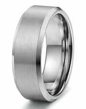 Tungary Jewelry 8mm Tungsten Wedding Band for Men Engagement Matte Finish size10