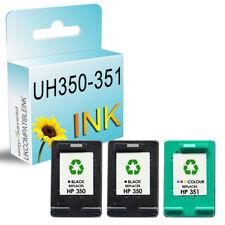 3 UCI® Ink fits for HP 350 351 XL Photosmart C4480 C4483 C4485 C4500 C4524 C4540