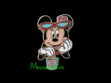 Caribbean Beach Minnie Mouse with Sunglasses and Drink at the Beach Disney Pin