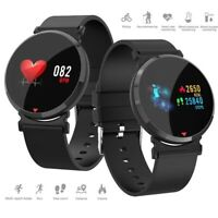Sports Bluetooth Smart Watch Blood Pressure Fitness Wristband For iOS Android