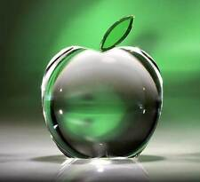 New Crystal World Crystal Green Leaf Apple Figurine
