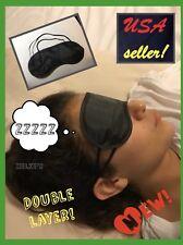 Travel eye mask Blindfold sleep aid Sun glass light Bed protection Mascara A++