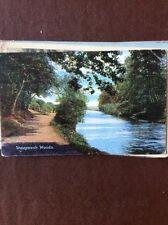 A4d  postcard unused sheepwash woods ashington northumberland