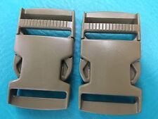 """2 ITW Nexus Camo 1.5""""Buckle Backpack Webbing Strap Plastic Clip Tan Camo 1 1/2"""""""