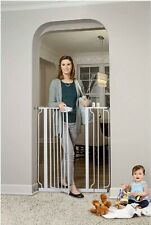 Dog Gate Indoor Tall Pet & Fence Baby Barrier Adjustable Walk Thru Swinging Door