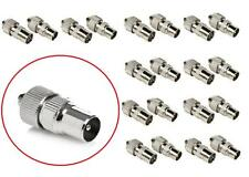 20 TV AERIAL COAXIAL CONNECTORS 10 FEMALE 10 MALE PLUGS SOCKETS COAX HOME OFFICE