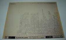 Ersatzteilkatalog auf Microfich Audi 80 / 90 Typ 85 B2 Quattro 1985 - 1987!