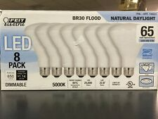 8 pack Natural Day Light LED Feit BR30 Flood Dimmable Light Bulb 650L 65W 9.5W