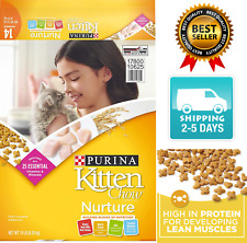 NEW Purina Kitten Chow Nurturing Formula Dry Cat Food 14lb with real chicken