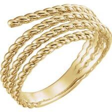 14k Yellow Gold Spiral Wrap Rope Ring