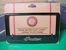 Indian Script License Plate Frame Genuine 2880800-266 Billet Aluminum Black K8