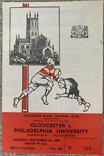 More details for gloucester v philadelphia university rugby union 1969
