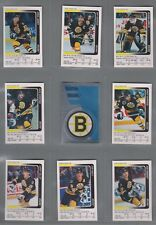 1991-92 Panini Stickers Boston Bruins Complete Team Set (18)