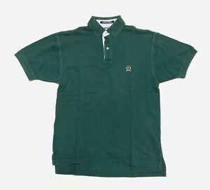 Vintage 90's Tommy Hilfiger Forest Green Polo Size Small
