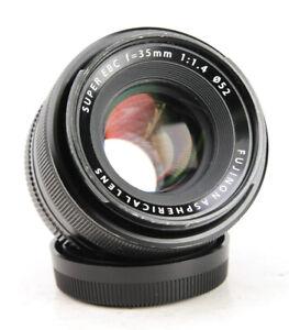 Fujifilm XF 35mm F1.4 Fujinon Aspherical Fuji X Mount Lens + Rear Lens Cap