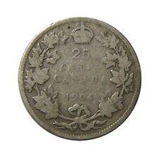 elf Canada 25 Cents 1904  Edward VII
