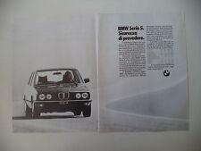 advertising Pubblicità 1982 BMW SERIE 5