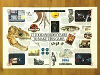 Jurassic Park Sega Genesis SNES 1993 Vintage Print Ad/Poster Official Art Rare!