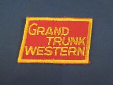 Vintage Grand Trunk Western Railroad Railway Train Logo Sew On Patch