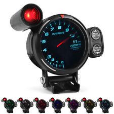 3.5'' 80mm Tachometer Gauge High Speed Stepper Motor RPM Rev Counter 7 Color LED
