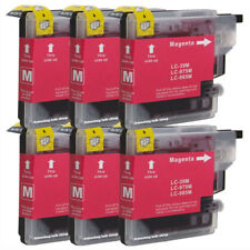 6 Magenta Compatible Ink Cartridges For Brother LC-985M NON-OEM