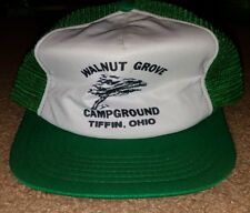 Vintage Walnut Grove Campground Tiffin Ohio camping trucker style mesh hat cap