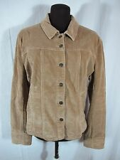 AMI Brown Tan Corduroy Cotton Blend Jean Jacket Size Large