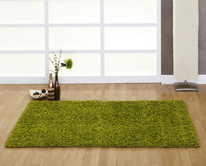 Ultimate Comfort Lime Green High Pile Shaggy Rug in various sizes and shapes
