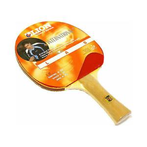 Table Tennis Bat Paddle Racket Lions International - Red/Black - New