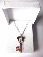 NUOVO BIADESIVO Disney World Mickey Mouse Chiave Ciondolo in Argento Placcato Collana