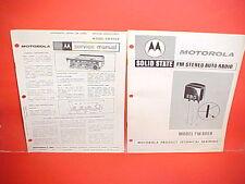 1967 1968 MOTOROLA FM STEREO MULTIPLEX AUTO RADIO SERVICE SHOP MANUAL FM990X