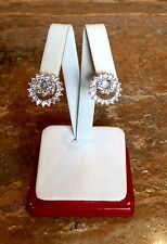 """NOLAN MILLER GLAMOUR COLLECTION """"ENDLESS SWIRL"""" PIERCED EARRINGS"""" GORGEOUS!!!"""