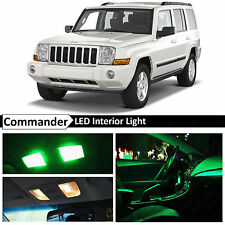 12x Green LED Lights Interior Package Kit 2006-2010 Jeep Commander