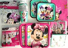MINNIE MOUSE Happy Helper Disney Birthday Party Supply SUPER Kit w/Invite & Bags