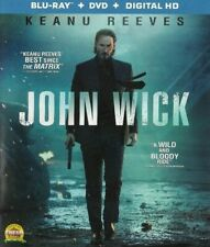 Blu-Ray/ DVD Combo Pack JOHN WICK Keanu Reeves Action Thriller
