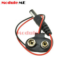 5PCS T type 9V DC Battery Power Cable Barrel Jack Connector for Arduino