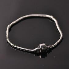 """7""""~8.5"""" Gold/Silver Snake Chain Fit European Charm Bracelet Big hole Beads"""
