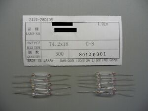 TECHNICS 10 VU-Lampen SE-A 900, 909, 1000, 1010 SA-TX30 TX50 Lamps TOSHIBA JAPAN