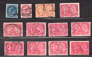 9 x Sc #53 - Canada - Three Cent Jubilees - 1897 - Used -  Superfleas est$30
