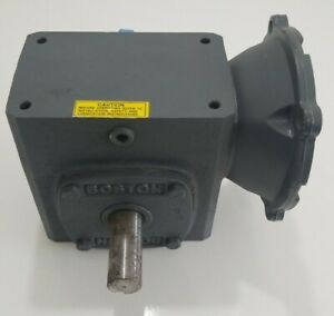 *PREOWNED* BOSTON GEAR F72160B56 RIGHT ANGLE GEAR REDUCER 60:1, 1/2HP