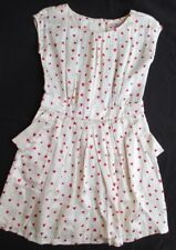 JUICY COUTURE Girl's Short Sleeve Silk Dress with Hearts Size 10 w/Pockets!