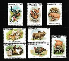 Farm Animals chèvres canards LAPINS cochons Ensemble de 8 MNH timbres 1978