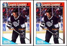 2x OPC 1991 WAYNE GRETZKY NHL LOS ANGELES KINGS LEAGUE LEADERS MINT #257 LOT