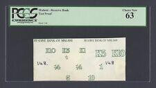 Malawi , Reverse Bank K1-K2-K5 K10  Vignette Test Proof Uncirculated