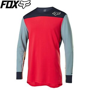Fox Defend Delta Long Sleeve Jersey 2020 - Bright Red