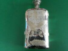 """11"""" tall silver and tan decorative bottle Home Decor  (RC)"""