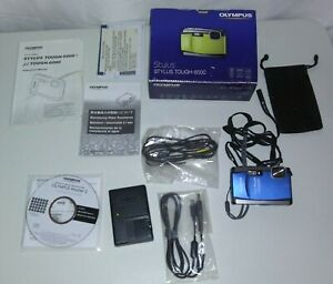 Olympus Stylus Tough-6000 Waterproof 3.6x Wide Angle 2.7-Inch LCD-BLUE Display